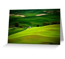 Green Fields Greeting Card