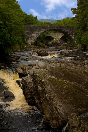 Invermoriston Falls and the Two Bridges by Jessica Smith