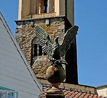 Stone Eagle & Campanile, Portmeirion by buttonpresser