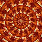 Circle Of Trees   (kaleidoscope ) by Linda Miller Gesualdo