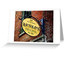 A Bar and Grill in Cincinnati Greeting Card