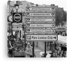 La vie à Paris Canvas Print
