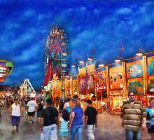 Carnival - The carnival at night by Mike  Savad