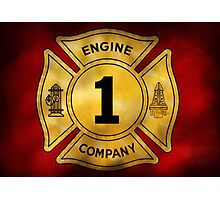 Fireman - Engine Company 1 Photographic Print