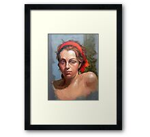 Portrait of Phoebe Framed Print