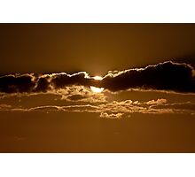 Sunset Blocked by Cloud Photographic Print