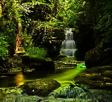 Watersmeet Falls Cascade / Lynmouth / UK by David-J