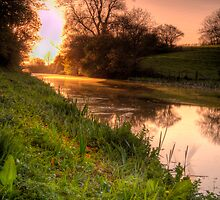 Grand Western Canal-Sunset-UK by David-J