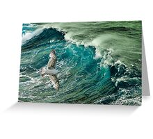 Cresting the waves Greeting Card
