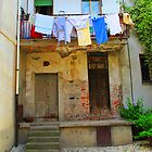 Washday in Verbania by Christine Wilson