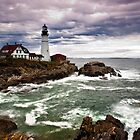 Fury at Portland Head Light by hawkeye978