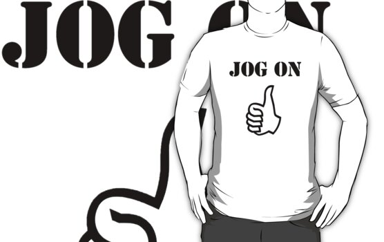 Jog On (black) by Tim Topping