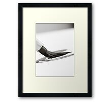 Sumi-e Brush Framed Print