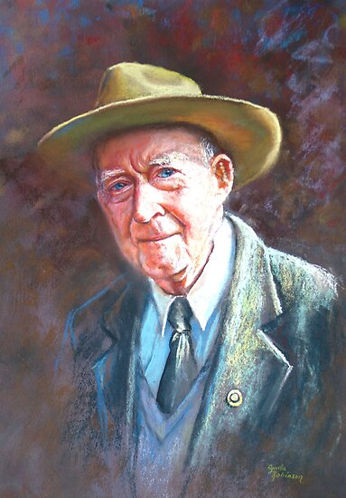 'Portrait of Tom Tehan' by Lynda Robinson