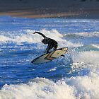 Surfer off Narrabeen Pool by Doug Cliff