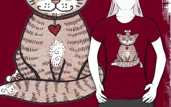 Cat n Mice Tee by Anita Inverarity