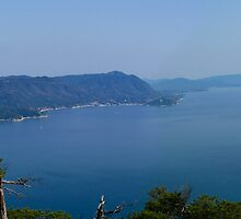 Miyajima Panorama - View from Mt Misen by Helen Barnett