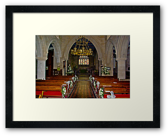 Slingsby Church Interior by Trevor Kersley