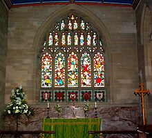 Slingsby Church Window by Trevor Kersley