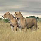 Two Hunters by Walter Colvin
