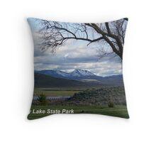 Unity Lake & Ironside Mountain Throw Pillow