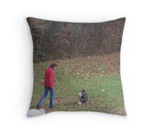 Soccer Dog Throw Pillow