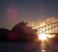 A Sydney Harbour sunset by Bernie Stronner