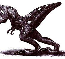 Cute but dangerous baby T-Rex by agenttomcat