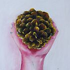Pine Cone in a Hand by MIchelle Thompson