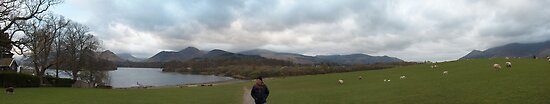 Lakes District Panorama - Keswick, UK by Helen Barnett