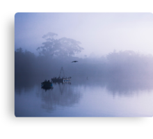 Flight cancelled due to fog Canvas Print