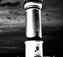 Kiama Lighthouse in Black & White by Evita