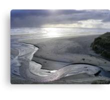 """""""Silver Serpent"""" at Strahan's Ocean Beach Canvas Print"""