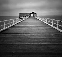 Queenscliff Pier - On A Quiet Sunday  by Sandra Eichler