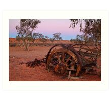 Cart Ruin, Old Andado Station, Outback Australia Art Print
