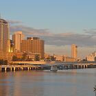 Brisbane On Sunset by mbutwell