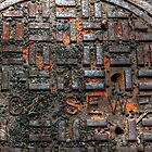 New York City sewer cap in HDR. by Edward Mahala