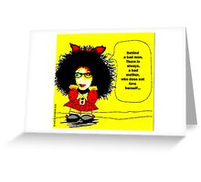 Mafalda (cartoon for the  feminist ...ultras) Greeting Card