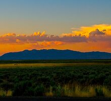 Modoc valley sunset by Jeffrey  Sinnock
