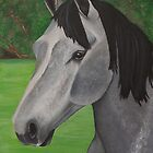 Grey Mare Portrait by Elizabeth Hibberd