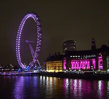 London Eye at Night 2010 by Lulush