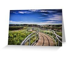 Path Over Badlands Greeting Card