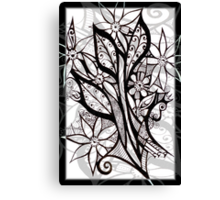 Petal Patterns in Black and White Canvas Print
