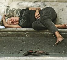 Homeless - (Down and out) by Peter Stratton