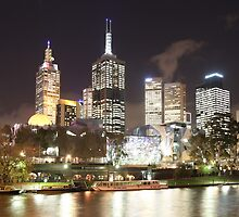 Melbourne at Night by Mark Edwards