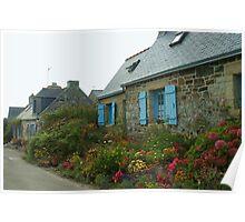 Flowered Cottages Poster