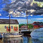 Fish shack and boats Mystic,CT by sby18