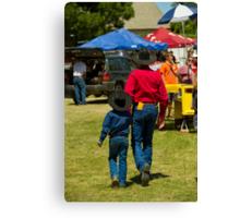 Cowboy Generations Canvas Print