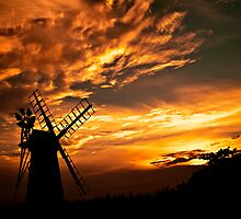 Turf Fen Windmill at Sunset (How Hill) by ArtforARMS