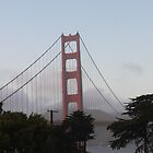 Golden Gate Bridge on a Foggy Day by Missy Yoder